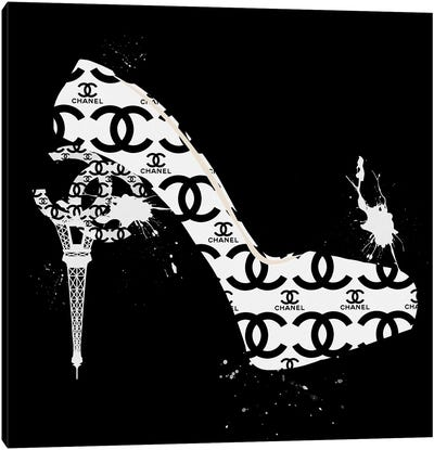 Black And White CC High Heels Fashion II Canvas Art Print