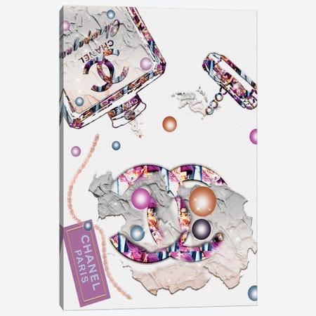 Kolor Me Krazy Spilled Champange Fashion Bottle 3-Piece Canvas #POB291} by Pomaikai Barron Canvas Print
