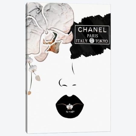 Touch Of Peach Orchid Eye Fashion Face 3-Piece Canvas #POB295} by Pomaikai Barron Canvas Art