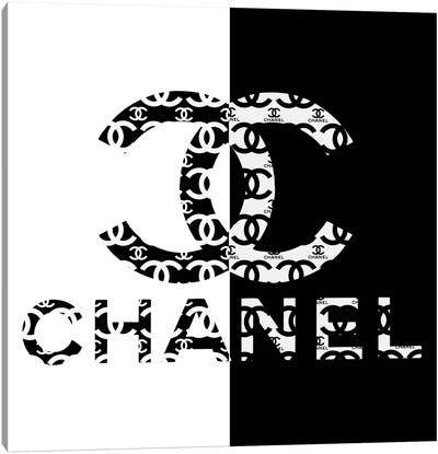 Black And White CC High Heels Fashion III Canvas Art Print