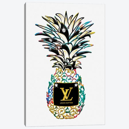 LV Savage Kolorful Fashion Pineapple Canvas Print #POB301} by Pomaikai Barron Canvas Art Print