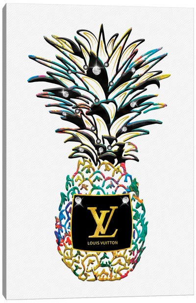 LV Savage Kolorful Fashion Pineapple Canvas Art Print