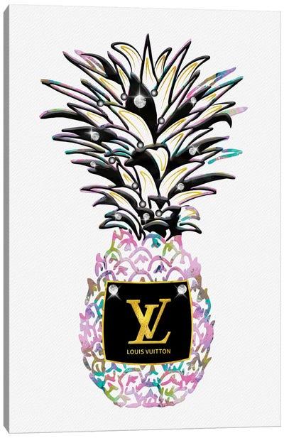 LV Pastel Fashion Pineapple Canvas Art Print