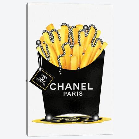 Fashion Fresh Chanel Fries & Pearls 3-Piece Canvas #POB304} by Pomaikai Barron Canvas Wall Art
