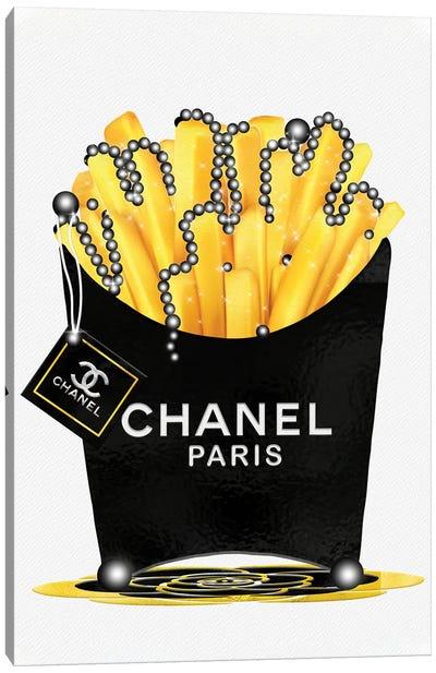 Fashion Fresh Chanel Fries & Pearls Canvas Art Print