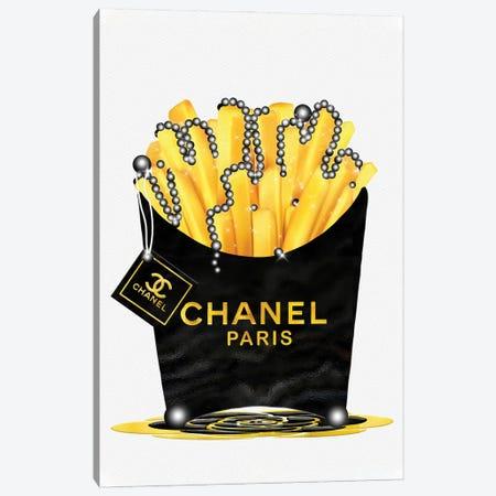 Fashion Fresh Chanel Gold Fries & Pearls Canvas Print #POB305} by Pomaikai Barron Canvas Art