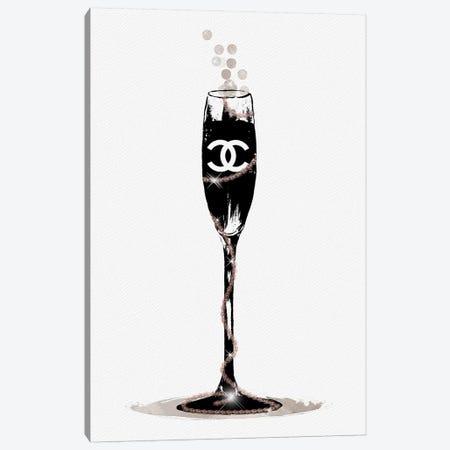 CC Champange Glass Canvas Print #POB30} by Pomaikai Barron Canvas Wall Art