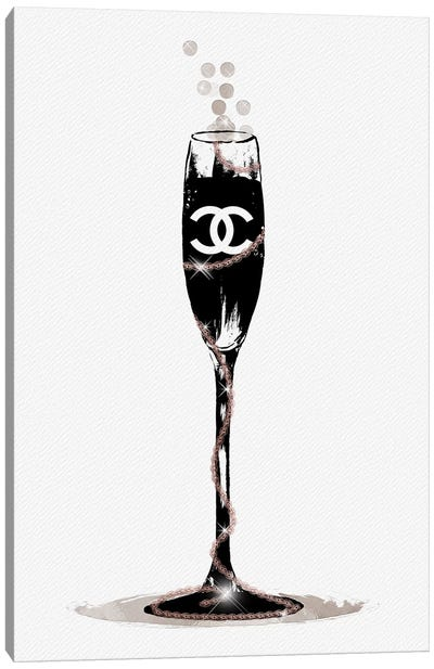 CC Champange Glass Canvas Art Print