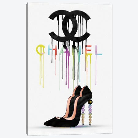 Walking On Rainbows CC Fashion Drips & High Heels Canvas Print #POB310} by Pomaikai Barron Canvas Artwork