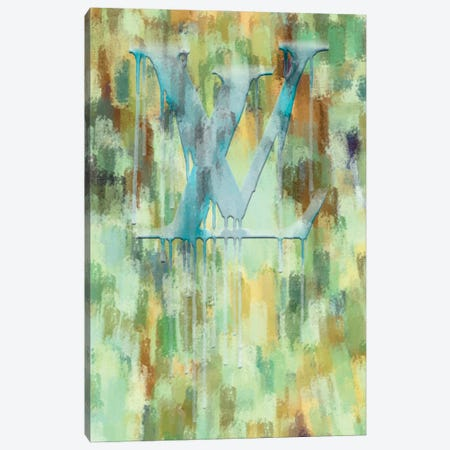 Fashion Drips_LV Verde Scattered Canvas Print #POB317} by Pomaikai Barron Art Print