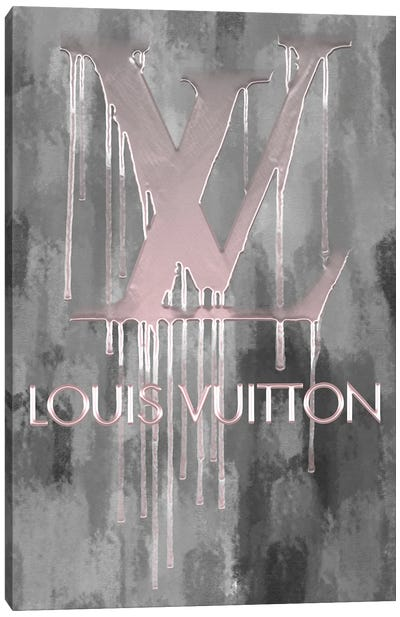 Fashion Drips_LV Sweetly Pink Canvas Art Print