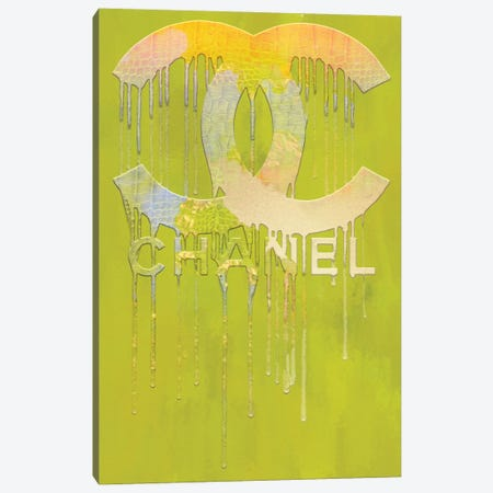 Fashion Drips CC Brite Canvas Print #POB327} by Pomaikai Barron Canvas Artwork