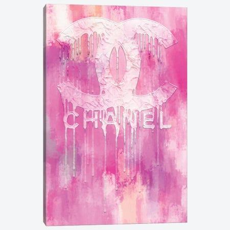 Fashion Drips CC Pinkly Canvas Print #POB328} by Pomaikai Barron Art Print