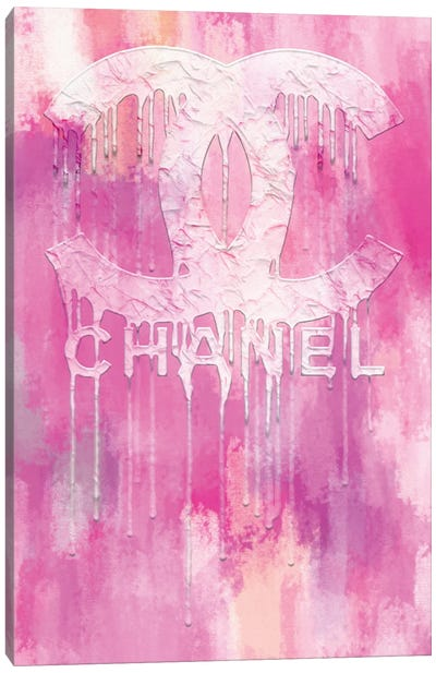 Fashion Drips CC Pinkly Canvas Art Print