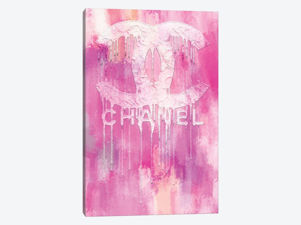 Fashion Drips CC Pinkly by Pomaikai Barron 1-piece Canvas Artwork