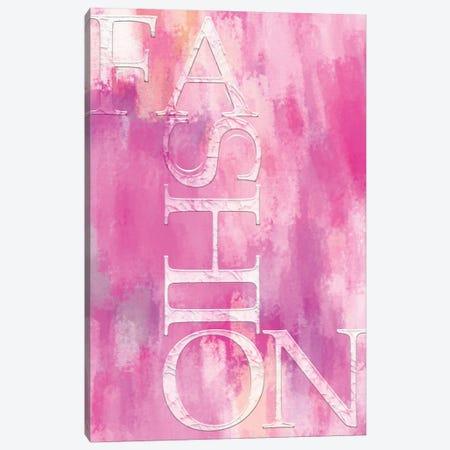 Fashion Pink Grunge Canvas Print #POB332} by Pomaikai Barron Canvas Artwork