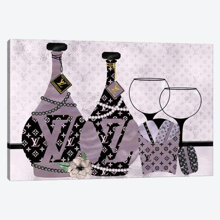 Champagne, Macarons & Louis Canvas Print #POB348} by Pomaikai Barron Art Print