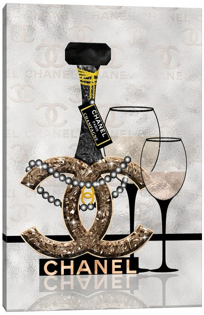 Getting Tipsy With Chanel Canvas Art Print