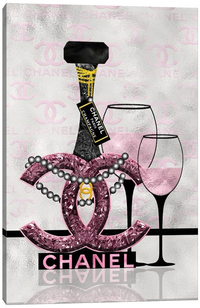 Getting Tipsy With Chanel III Canvas Art Print