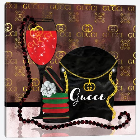 Spoiled By Gucci Canvas Print #POB368} by Pomaikai Barron Art Print