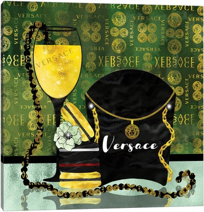 Spoiled By Versace Canvas Art Print