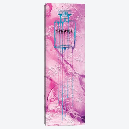Let It Drip Blue Perfume Bottle Canvas Print #POB389} by Pomaikai Barron Canvas Print