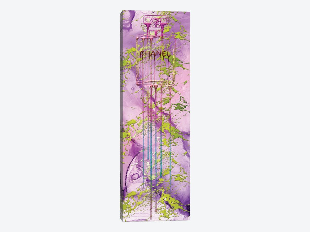 Let It Drip Pink Perfume Bottle by Pomaikai Barron 1-piece Canvas Artwork