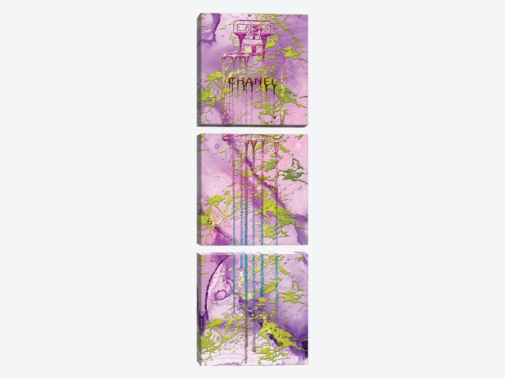 Let It Drip Pink Perfume Bottle by Pomaikai Barron 3-piece Canvas Wall Art