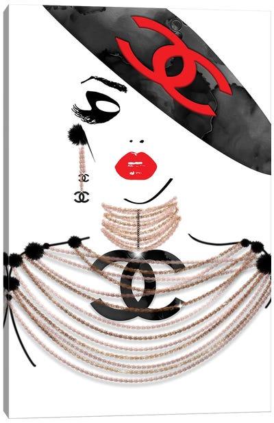 CC Sassy Ms Red Lips Canvas Art Print