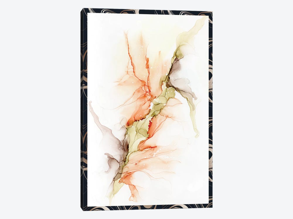 Bellini Alcohol Ink Abstract Flower by Pomaikai Barron 1-piece Canvas Wall Art