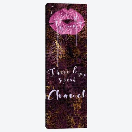 These Lips Speak Chanel Canvas Print #POB400} by Pomaikai Barron Canvas Art