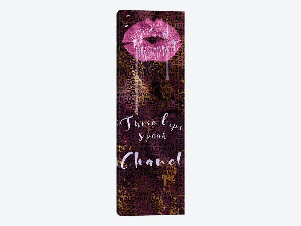 These Lips Speak Chanel by Pomaikai Barron 1-piece Canvas Art Print