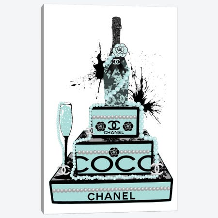 Champagne And Pearls Canvas Print #POB40} by Pomaikai Barron Art Print