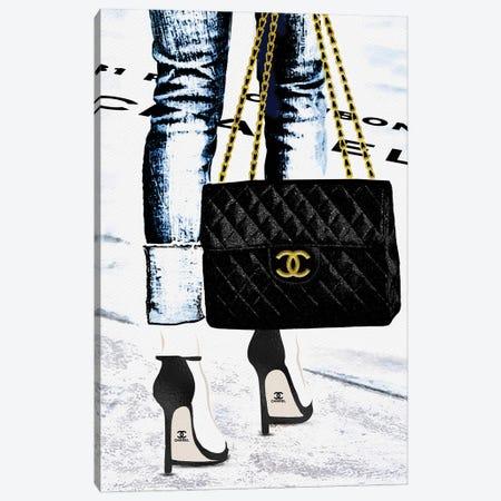Lady With The Chanel Bag And Black High Heels Canvas Print #POB440} by Pomaikai Barron Canvas Art
