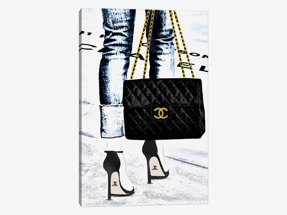 Lady With The Chanel Bag And Black High Heels by Pomaikai Barron 1-piece Art Print