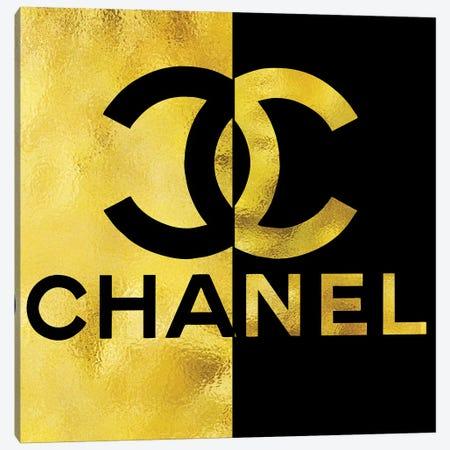 Chanel Black Gold High Heel III Canvas Print #POB44} by Pomaikai Barron Canvas Wall Art