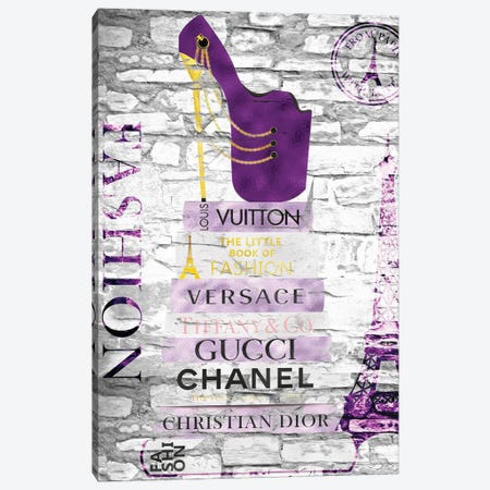 Shoe Whore-Purple Deluge Canvas Print #POB450} by Pomaikai Barron Art Print