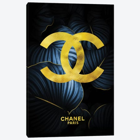 Chanel Double Cs Tropical Blue Canvas Print #POB46} by Pomaikai Barron Canvas Wall Art