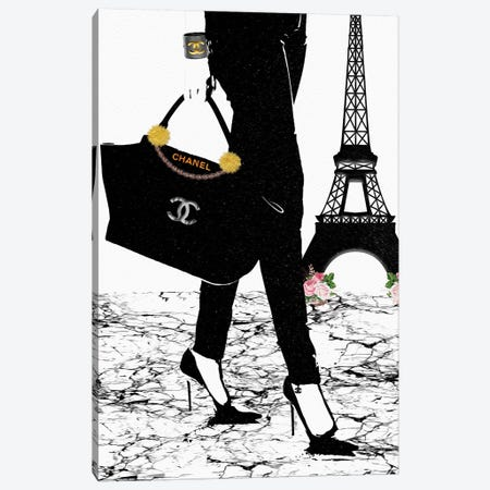 Chanel In Paris Canvas Print #POB47} by Pomaikai Barron Canvas Artwork