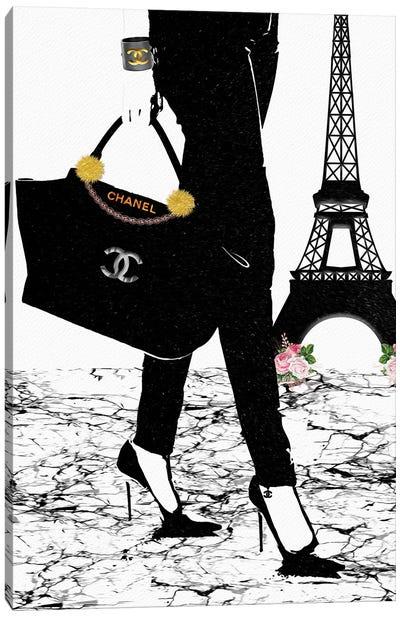 Chanel In Paris Canvas Art Print