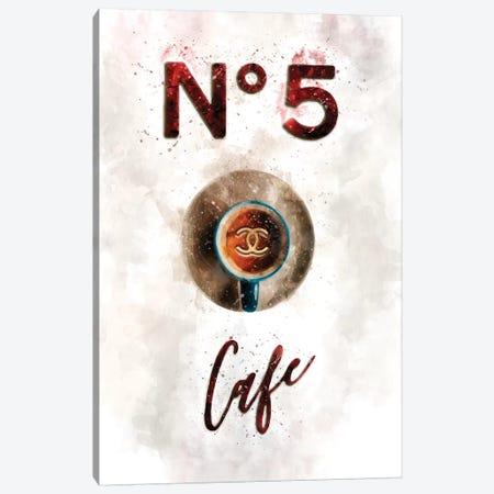 Chanel N05 Cafe Canvas Print #POB49} by Pomaikai Barron Art Print