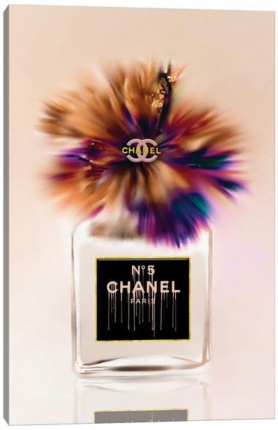 My Little Brownie Fashion Perfume Bottle & Hibiscus Canvas Art Print
