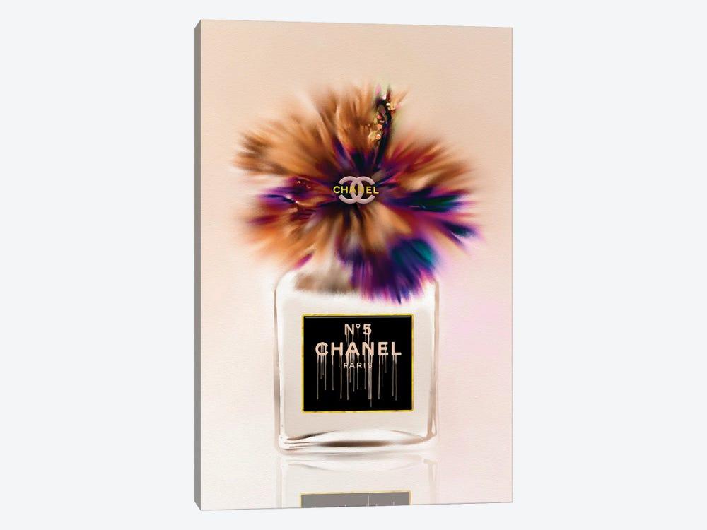 My Little Brownie Fashion Perfume Bottle & Hibiscus by Pomaikai Barron 1-piece Art Print