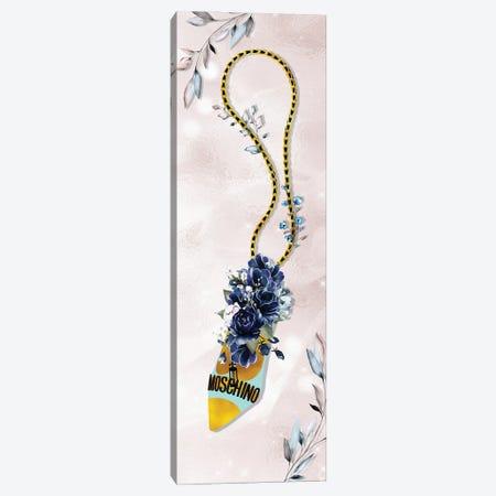 Teal & Gold High Heel Bag With Sapphire Blue Roses Canvas Print #POB549} by Pomaikai Barron Canvas Print