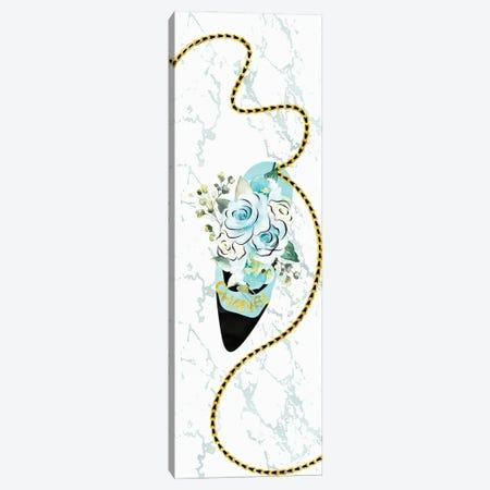 Teal & Black High Heel Bag With Soft Blue Roses Canvas Print #POB553} by Pomaikai Barron Canvas Artwork