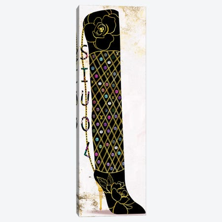 Thigh High Boot Fashion Bag With Multicolored Jewels Canvas Print #POB564} by Pomaikai Barron Canvas Wall Art