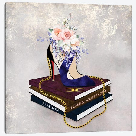 Fashion Squared Baked Blue Canvas Print #POB578} by Pomaikai Barron Canvas Wall Art