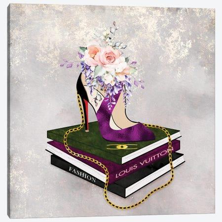 Fashion Squared Prissy Purple Canvas Print #POB579} by Pomaikai Barron Canvas Artwork