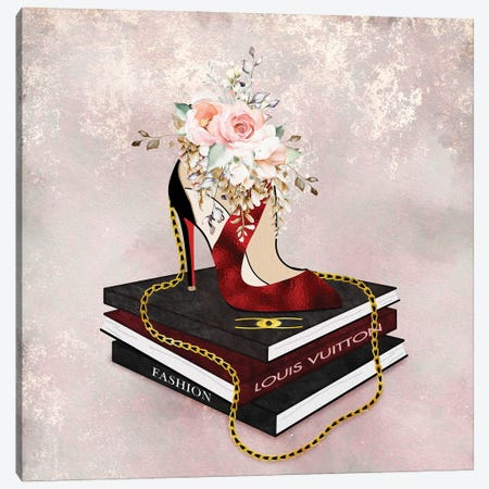 Fashion Squared Ravished Red Canvas Print #POB580} by Pomaikai Barron Art Print
