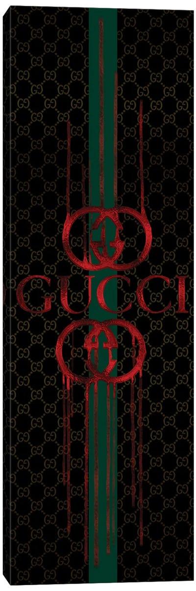 Fashion Drips GG Red On Black Canvas Art Print